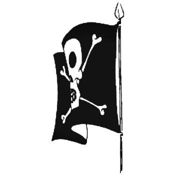 Skull & Crossbones Flag Car Stickers Motorbike Vinyl Decals Fairings Panniers